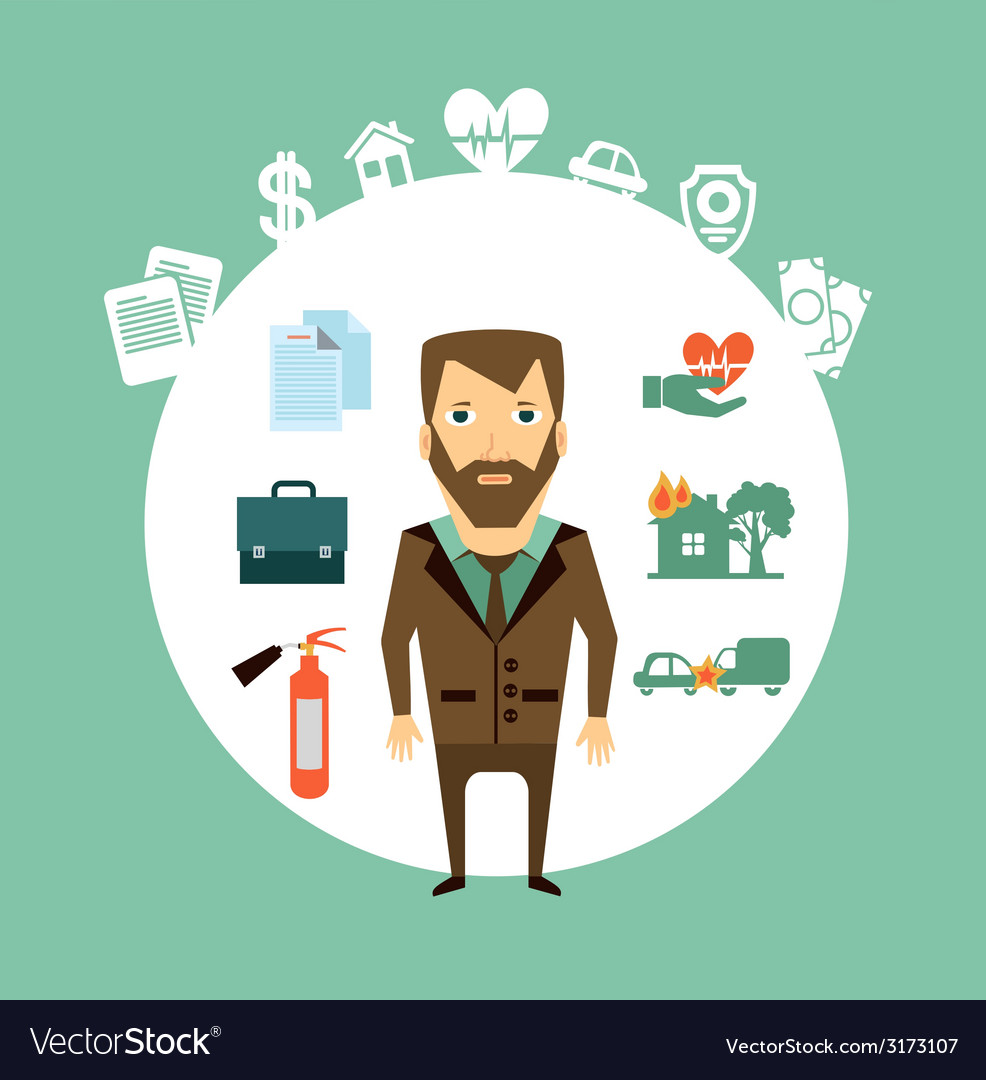 Insurance agent vector | Price: 1 Credit (USD $1)