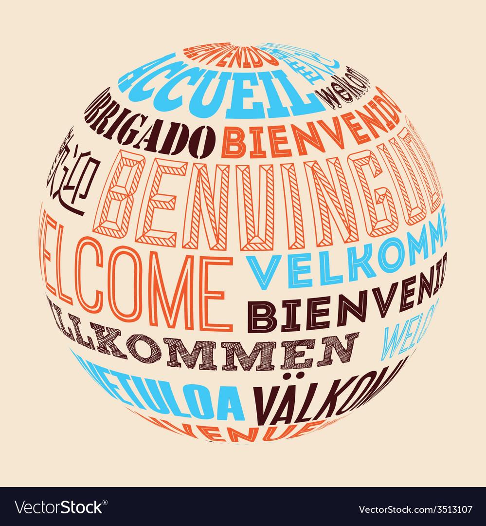 Language poster design vector | Price: 1 Credit (USD $1)