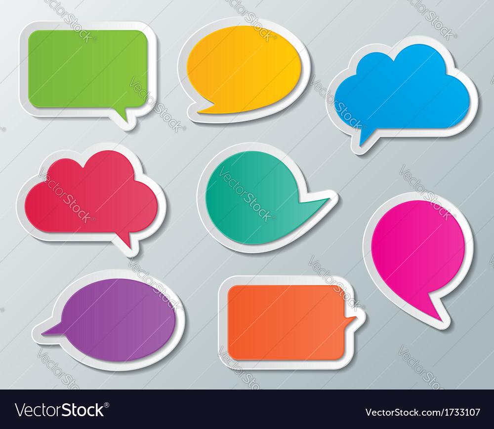 Speech bubbles vector | Price: 1 Credit (USD $1)
