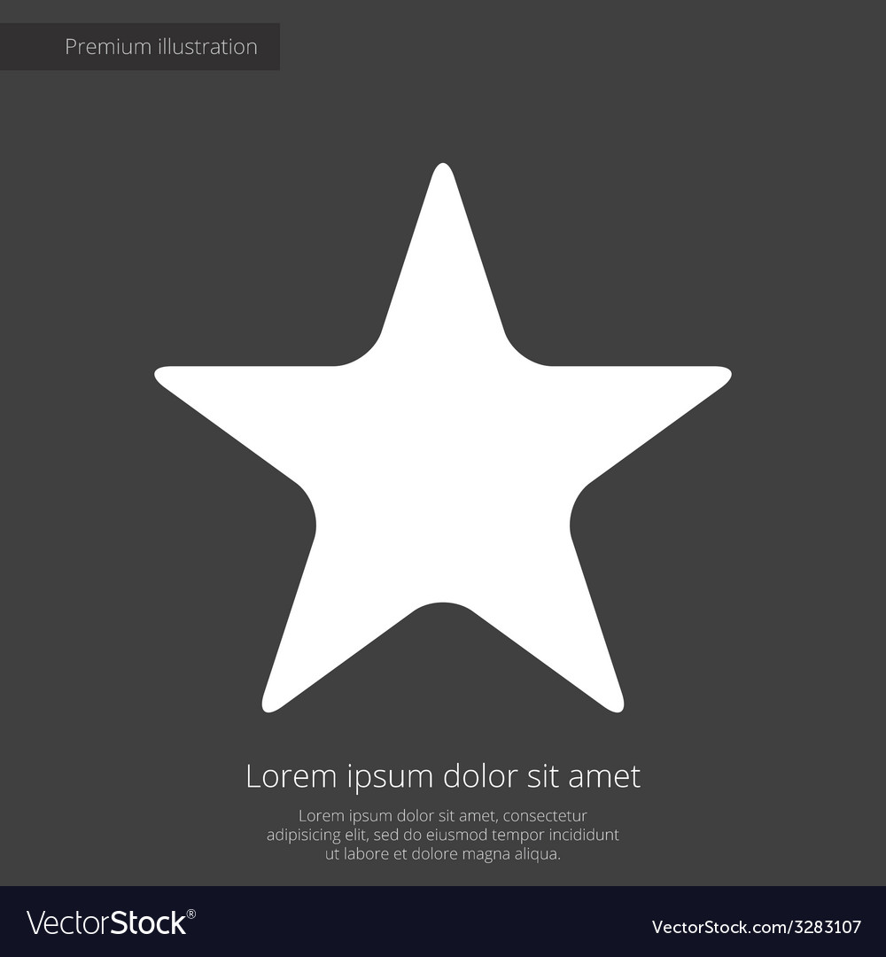 Star premium icon white on dark background vector | Price: 1 Credit (USD $1)