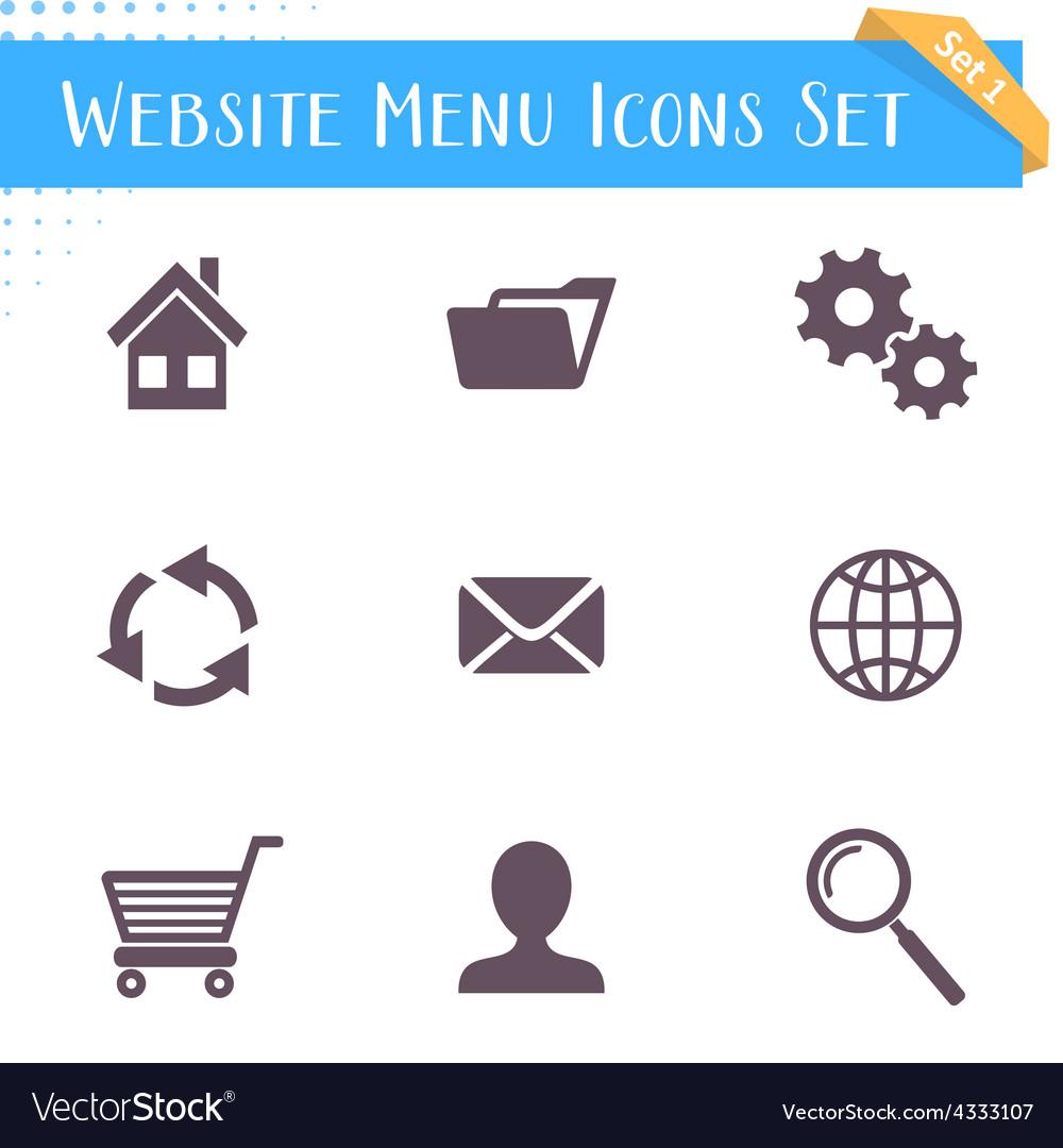 Website menu icons vector | Price: 1 Credit (USD $1)