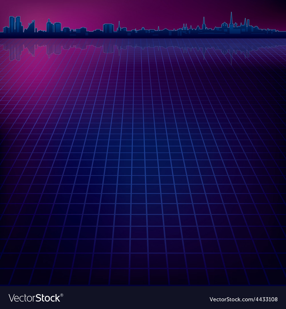 Abstract dark background with silhouette of city vector | Price: 1 Credit (USD $1)