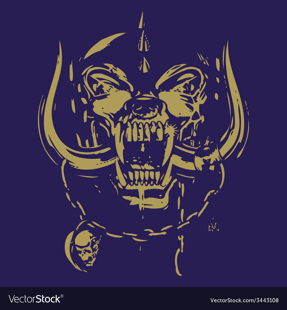 Blue and yellow skull vector | Price: 1 Credit (USD $1)