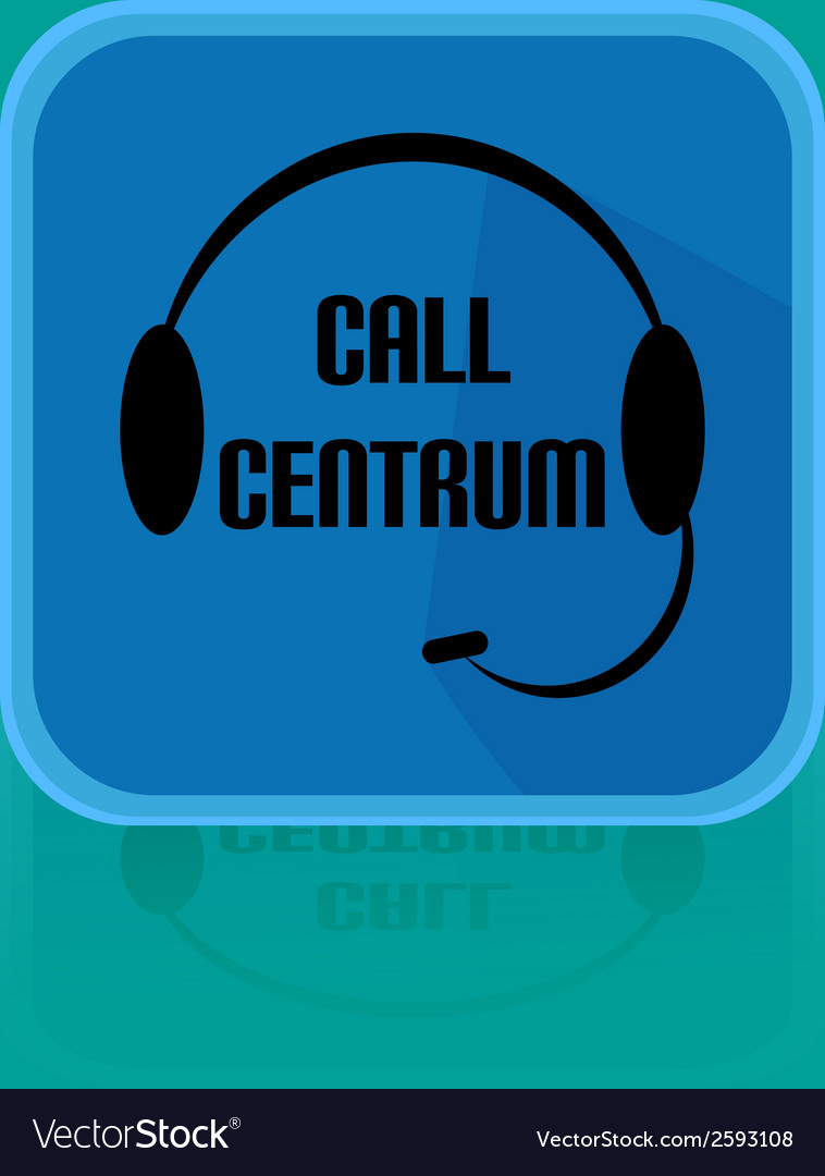 Flat design button call centrum vector | Price: 1 Credit (USD $1)