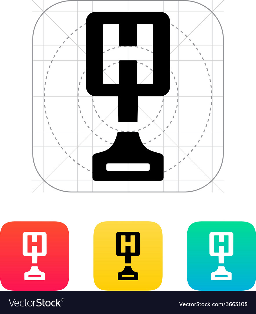 Hospital award icon on white background vector | Price: 1 Credit (USD $1)