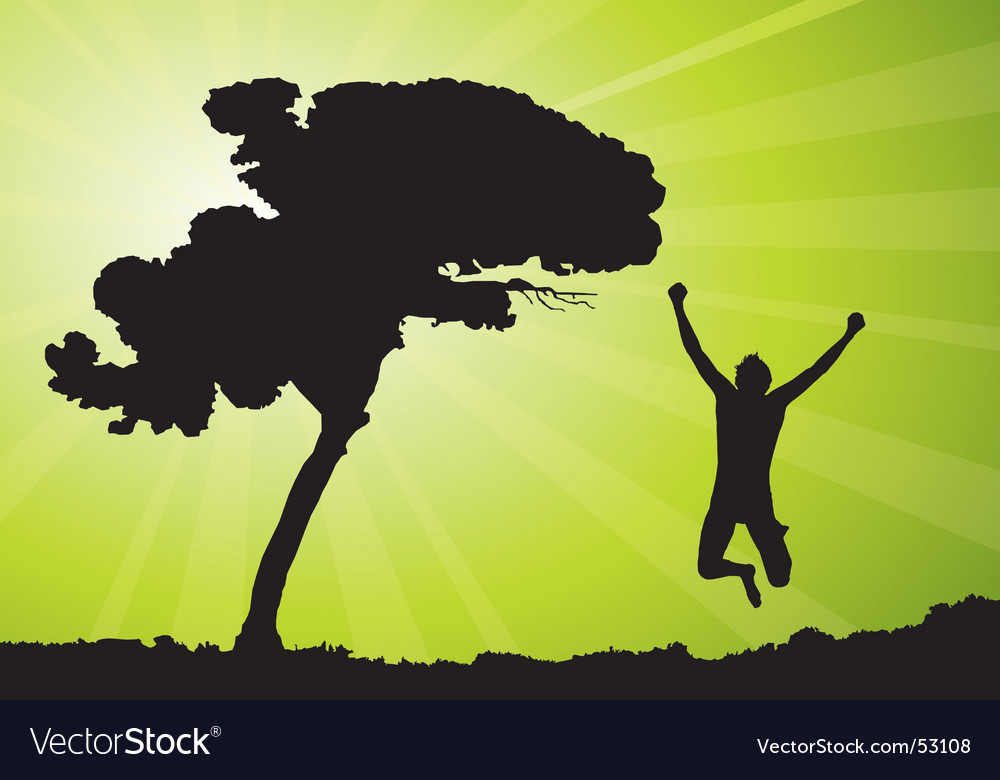 Man jumping illustration vector | Price: 1 Credit (USD $1)