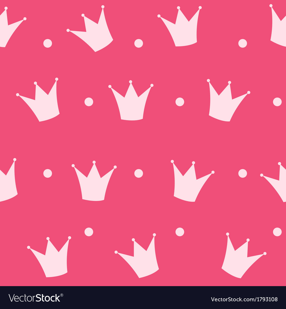 Princess crown seamless pattern background vector | Price: 1 Credit (USD $1)