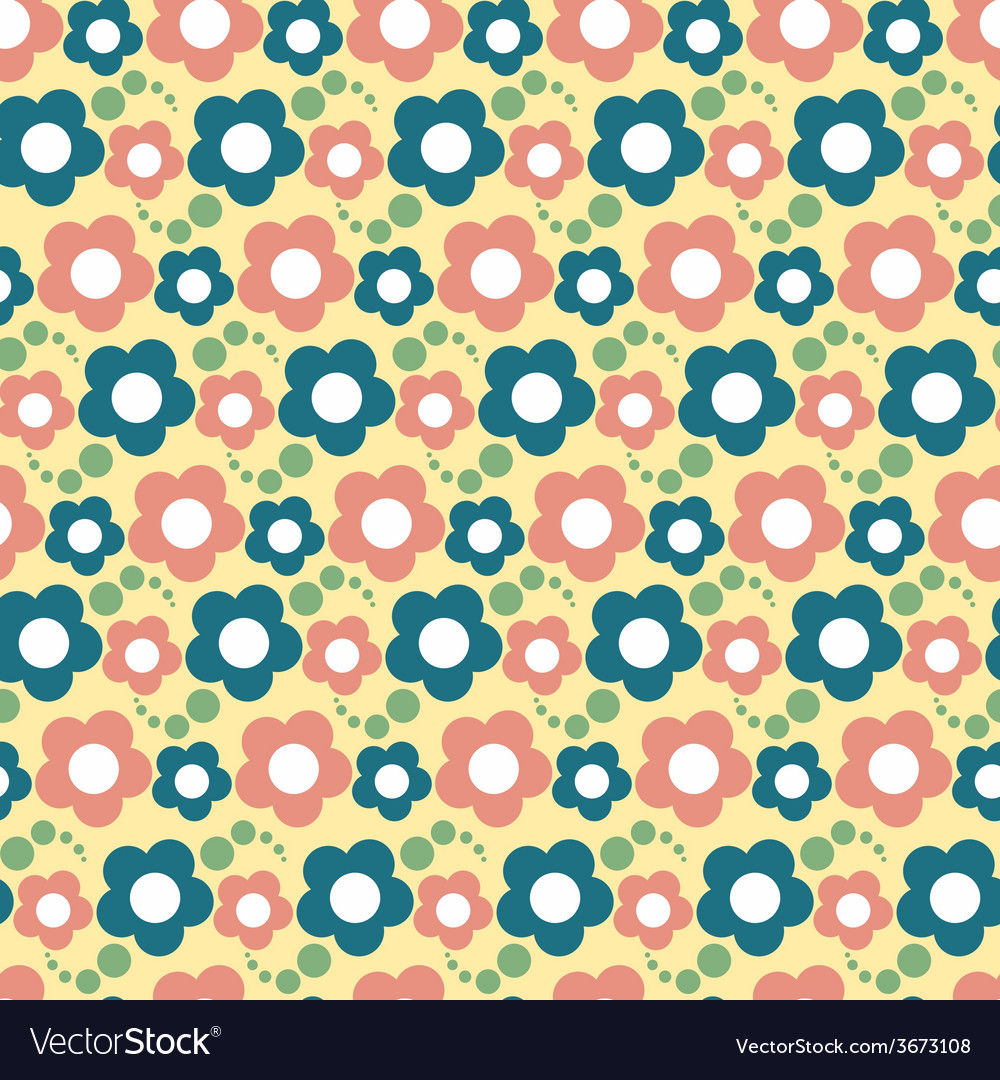 Seamless flower pattern floral background vector | Price: 1 Credit (USD $1)