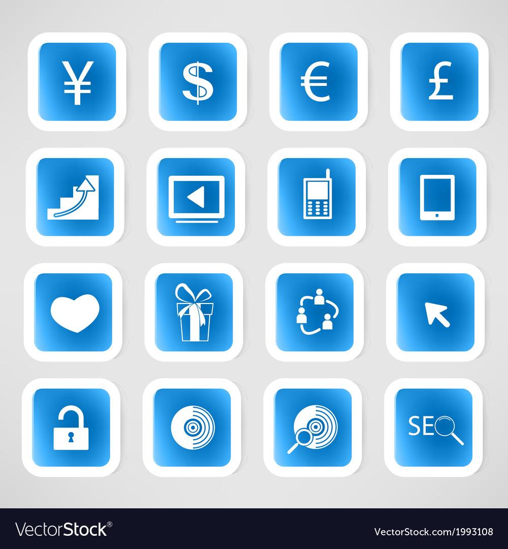 Social color media circles icon network vector | Price: 1 Credit (USD $1)