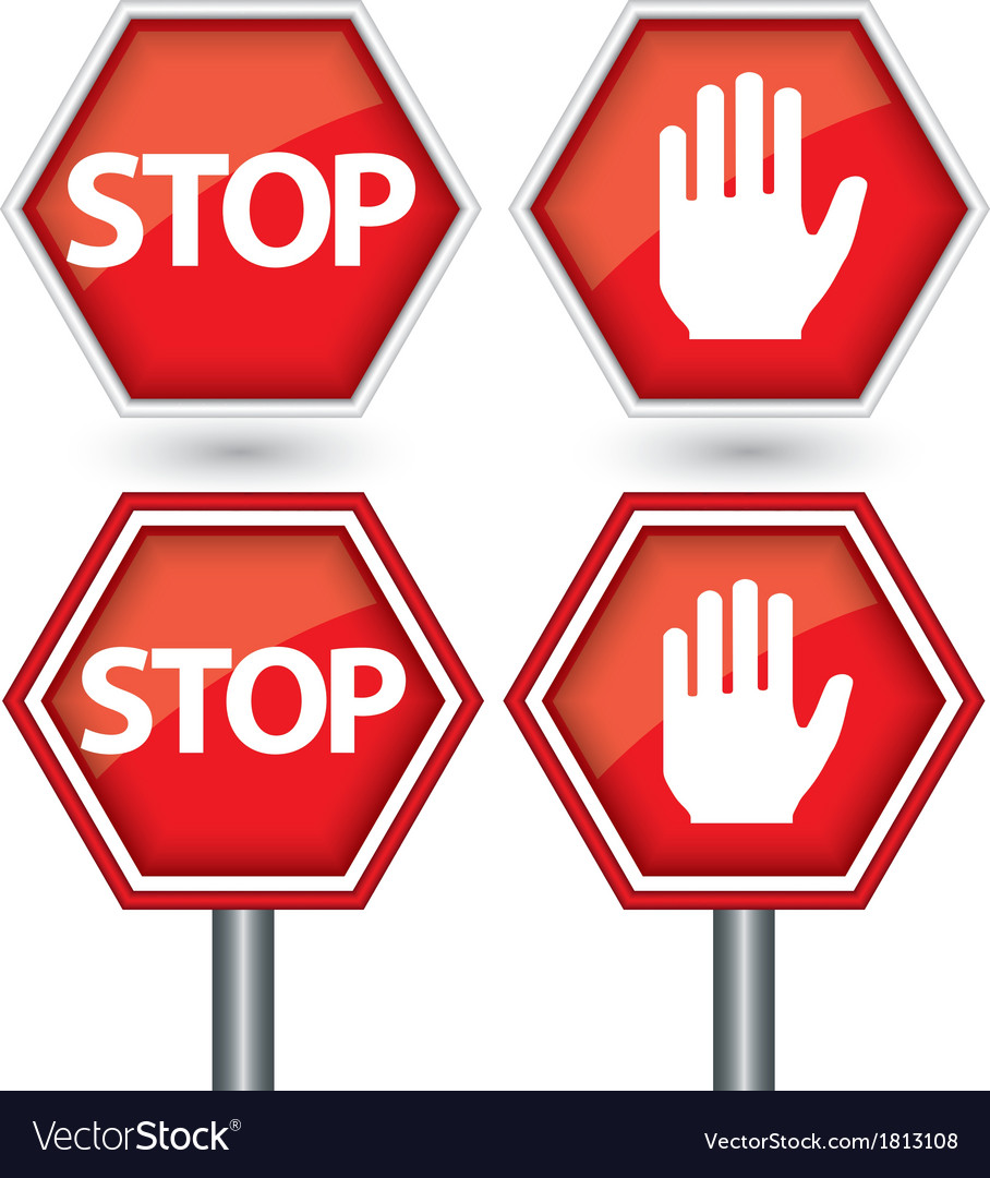 Stop signs vector | Price: 1 Credit (USD $1)