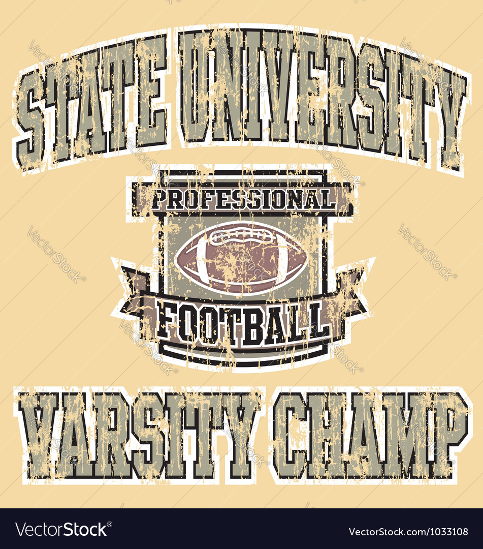 Varsity champ football vector | Price: 1 Credit (USD $1)