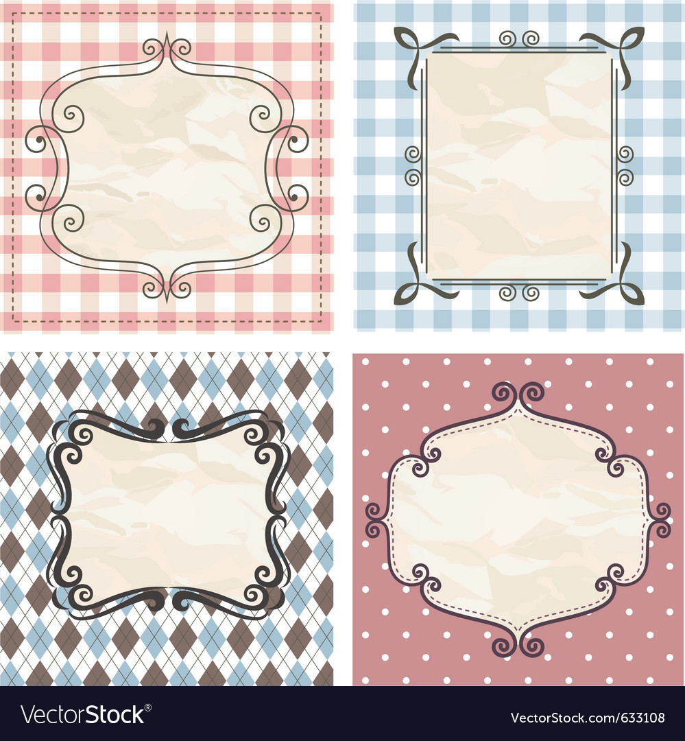 Vintage frames on the old fabric vector | Price: 1 Credit (USD $1)