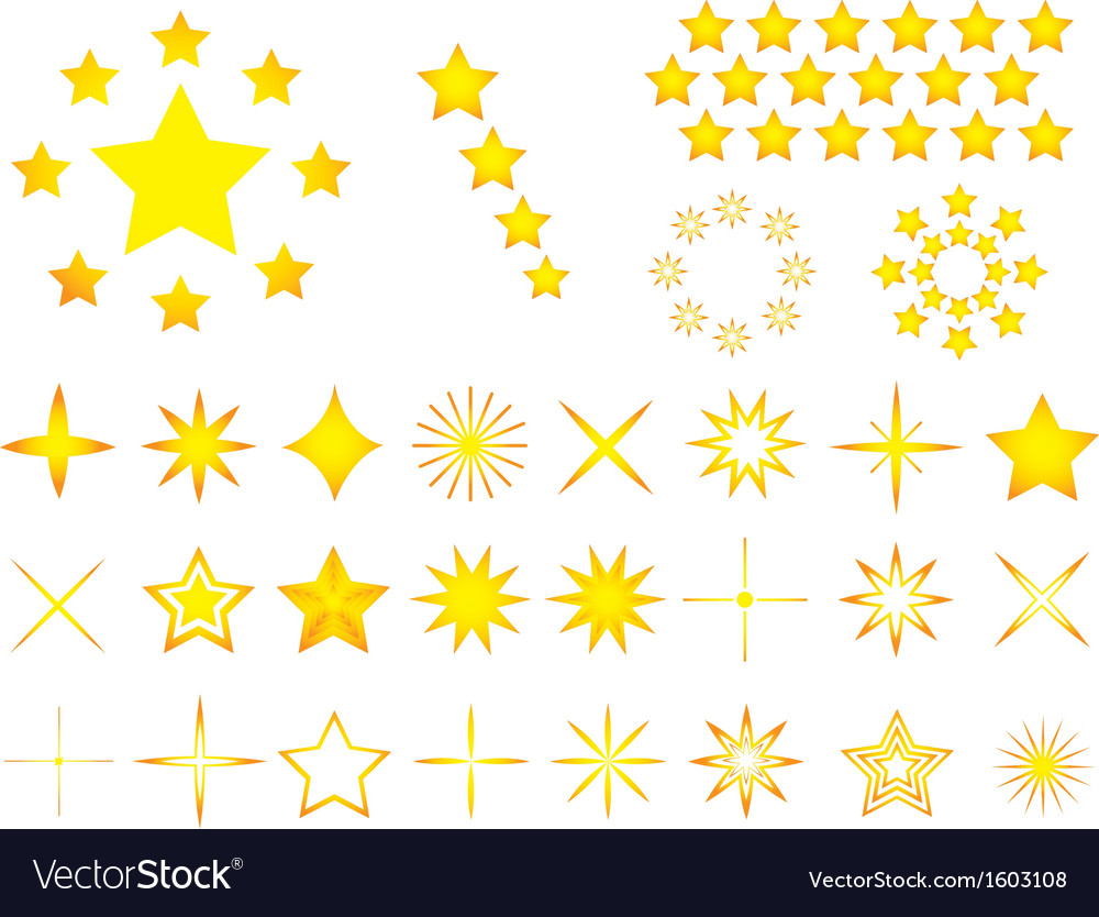 Yellow stars vector | Price: 1 Credit (USD $1)