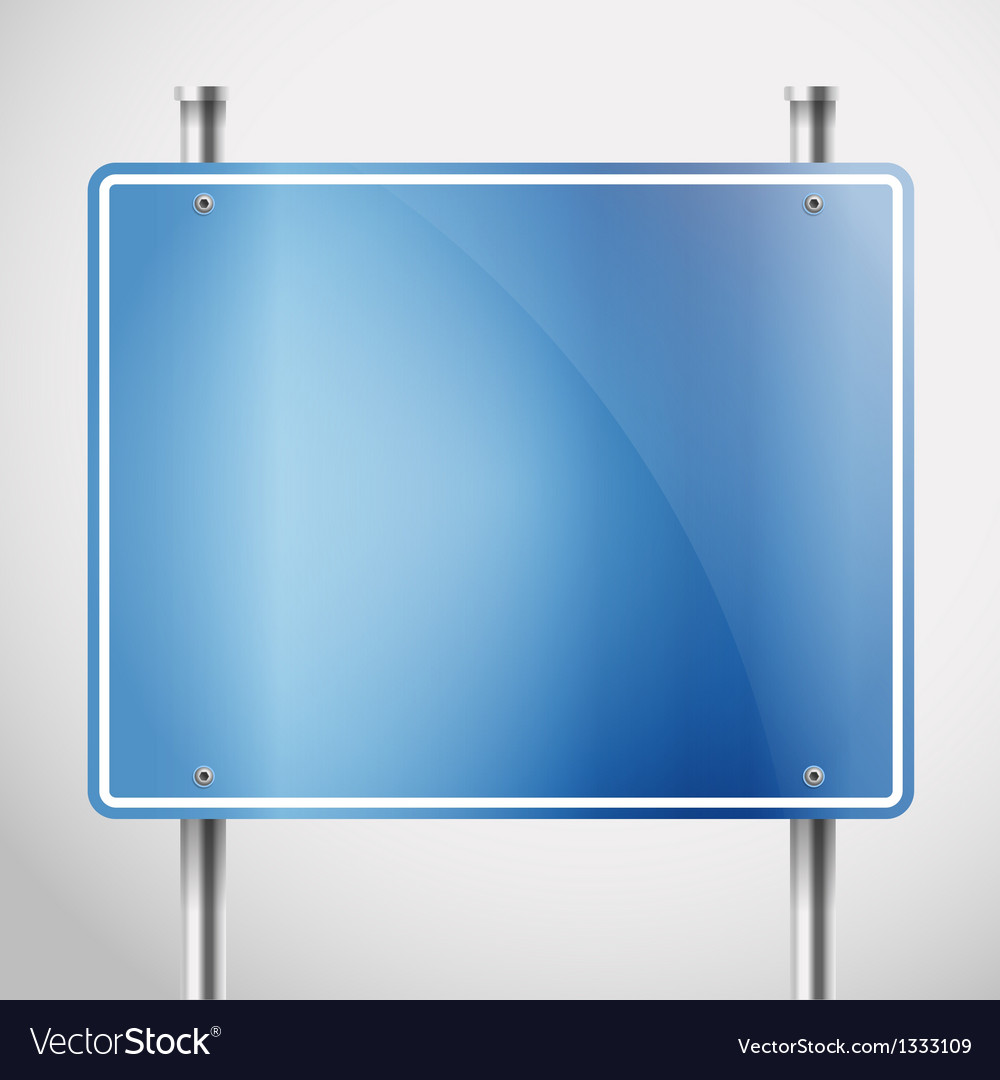 Blank metal information board template vector | Price: 1 Credit (USD $1)