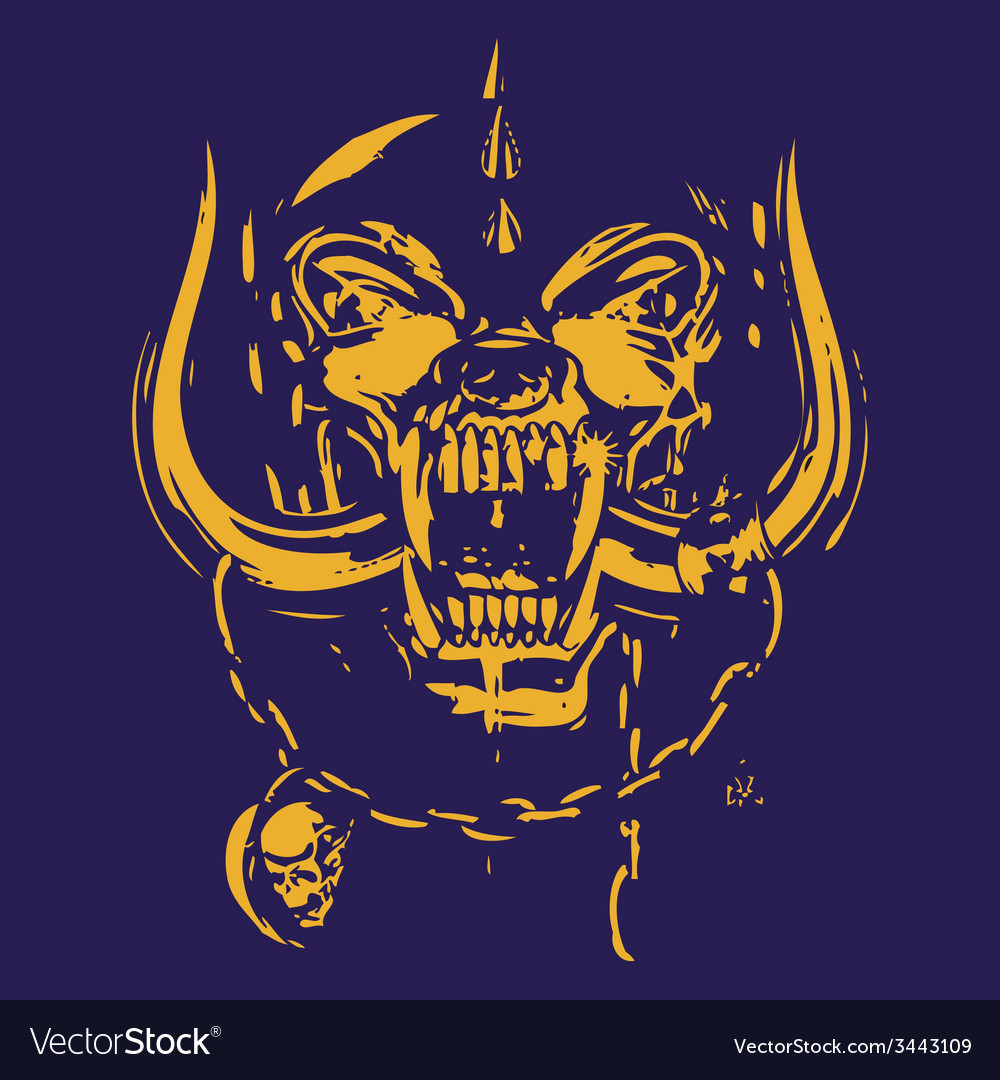 Blue skull and deep yellow vector | Price: 1 Credit (USD $1)