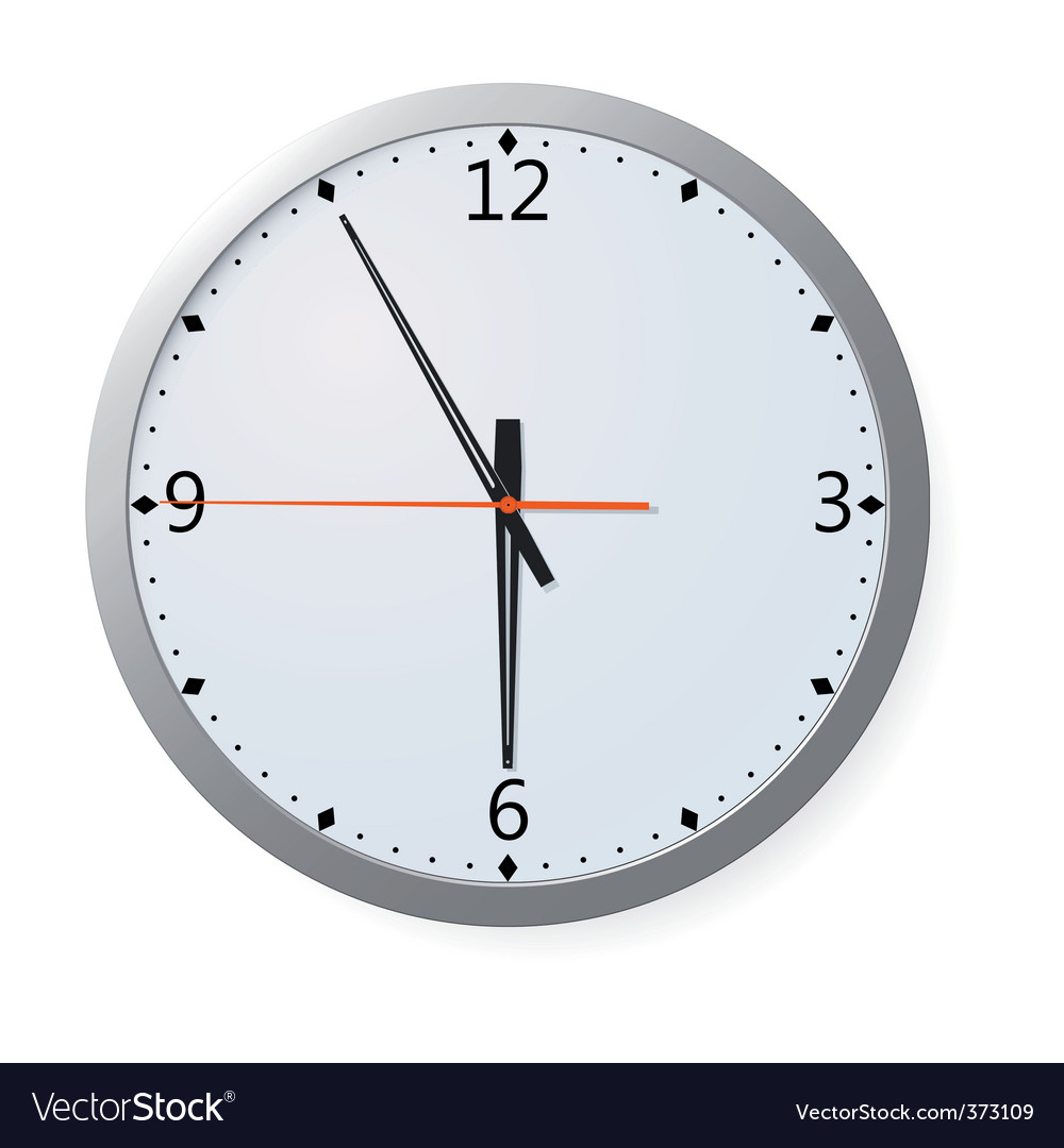 clock on a wall vector | Price: 1 Credit (USD $1)