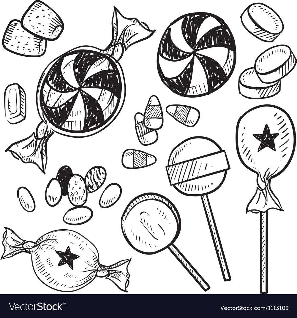 Doodle candy vector | Price: 1 Credit (USD $1)
