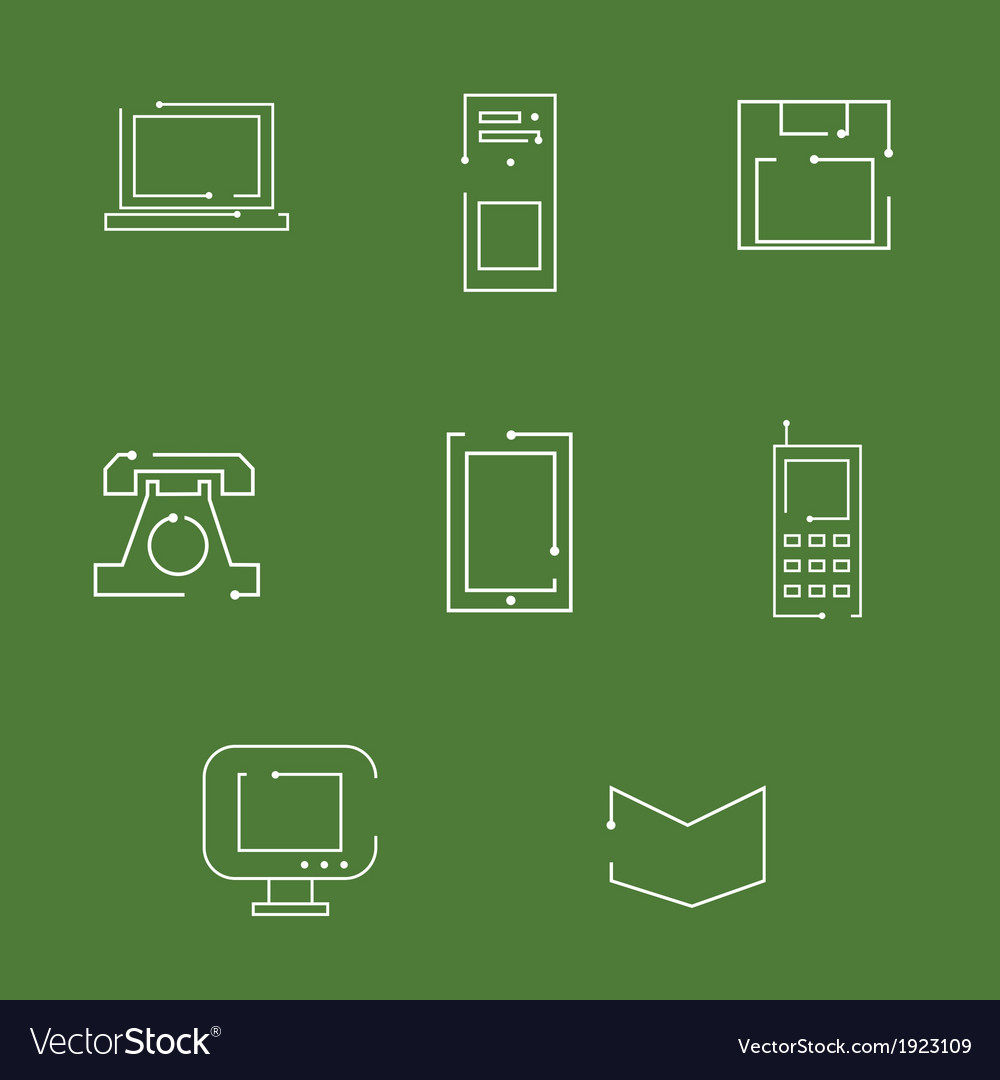 Gadgets icons vector   Price: 1 Credit (USD $1)