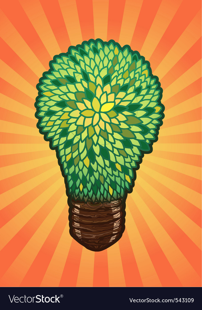 Incandescent eco lamp vector | Price: 1 Credit (USD $1)