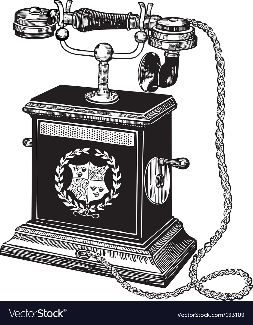 Old telephone vector   Price: 1 Credit (USD $1)