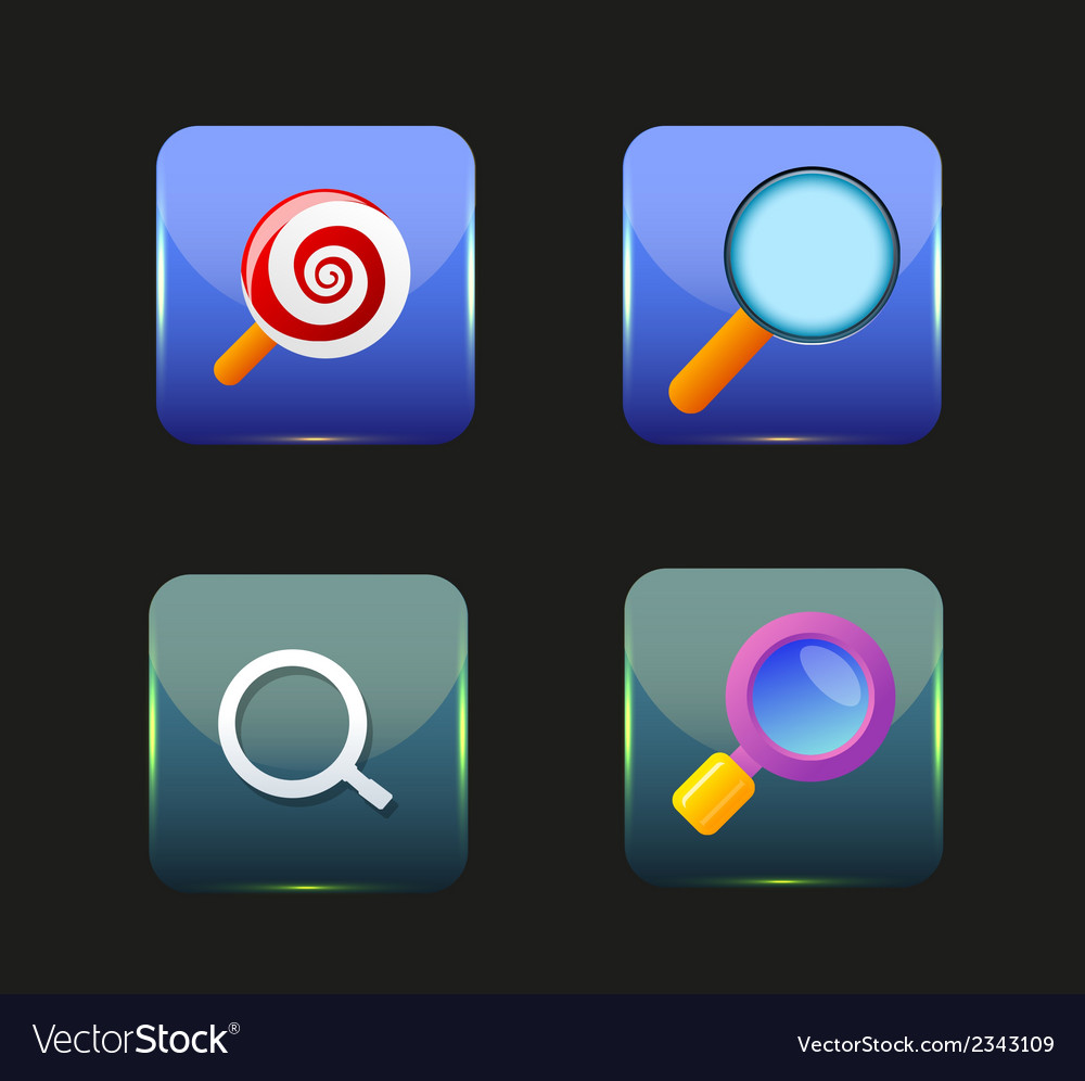 Search icon colorful collection vector | Price: 1 Credit (USD $1)