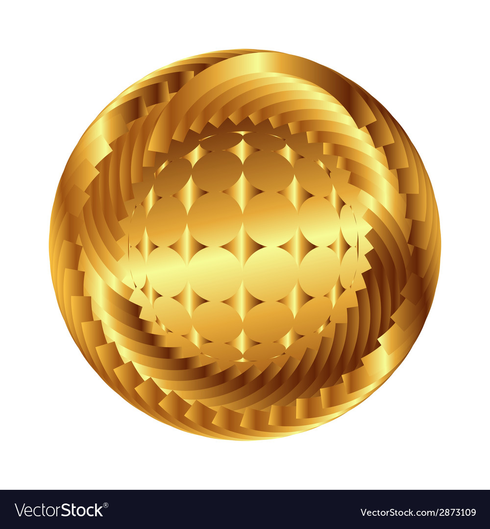 Sphere symbol abstract globe with star vector | Price: 1 Credit (USD $1)