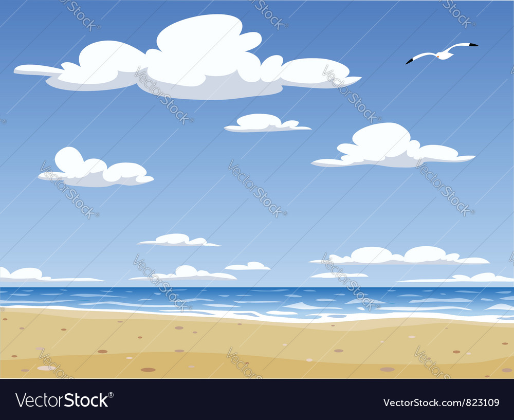 Sunny beach vector | Price: 3 Credit (USD $3)