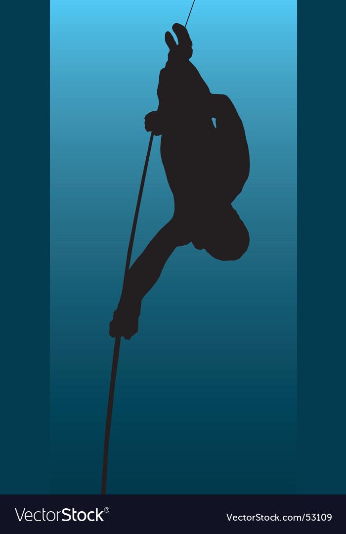 Underwater diving illustration vector | Price: 1 Credit (USD $1)
