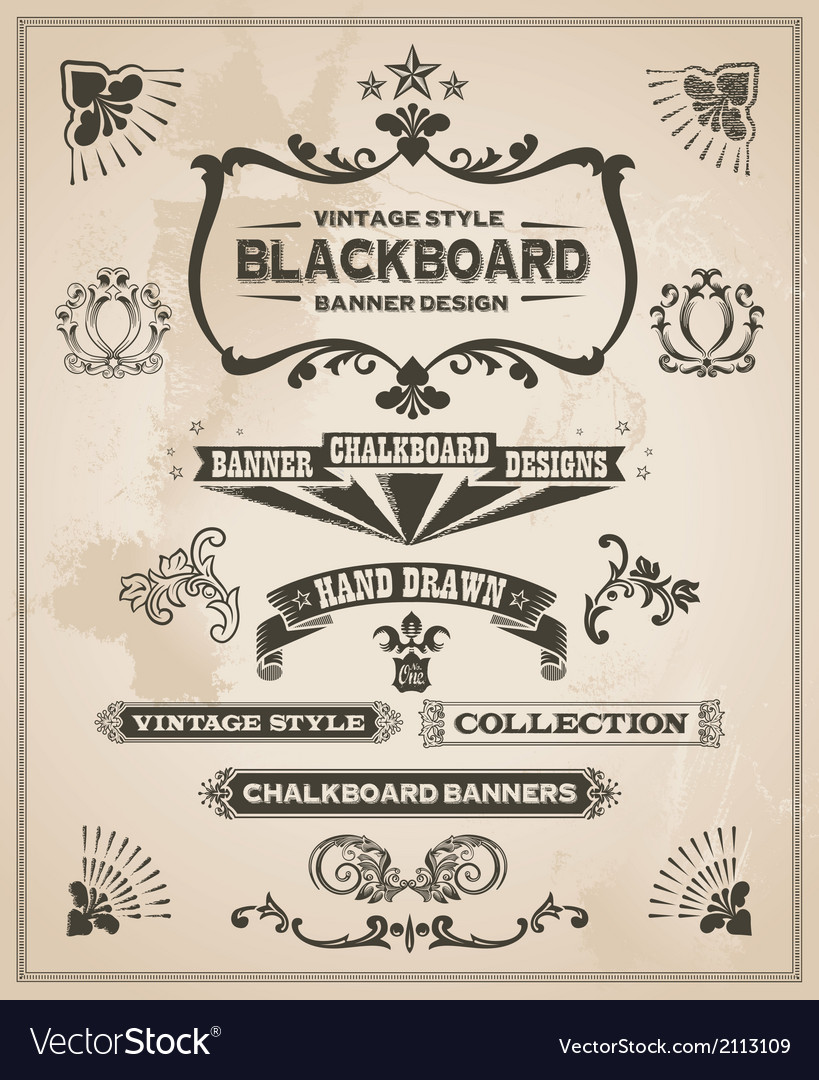 Vintage retro banner and ribbon set vector | Price: 1 Credit (USD $1)