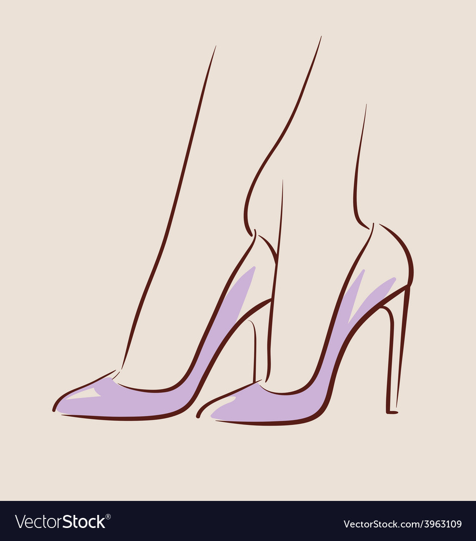 Woman wearing beautiful shoes eps 10 vector | Price: 1 Credit (USD $1)