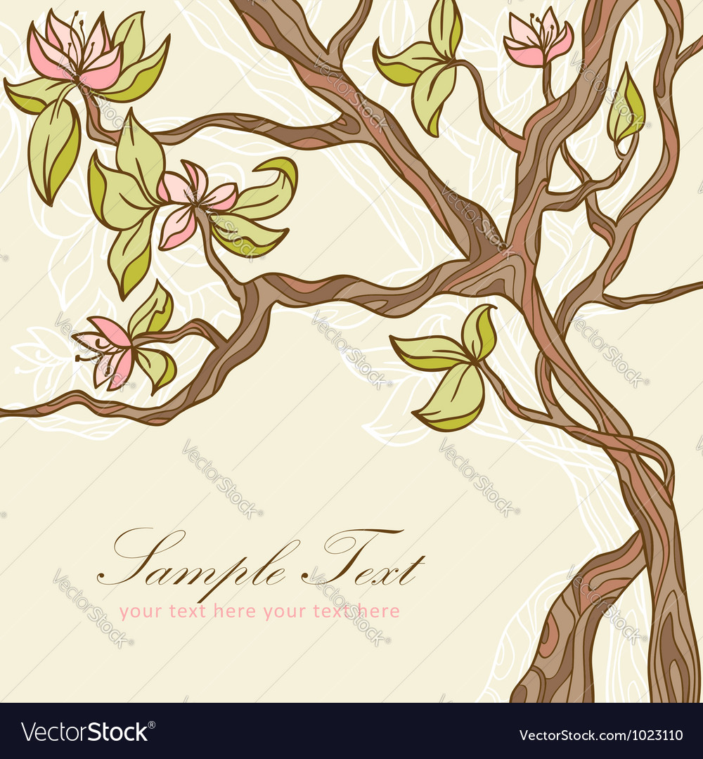 Beautiful blooming tree vector | Price: 1 Credit (USD $1)