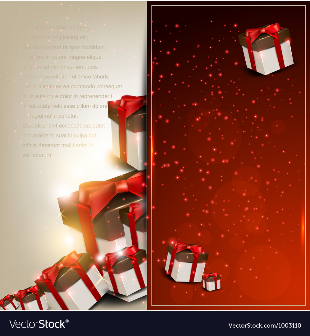 Elegance background with christmas gifts vector | Price: 3 Credit (USD $3)