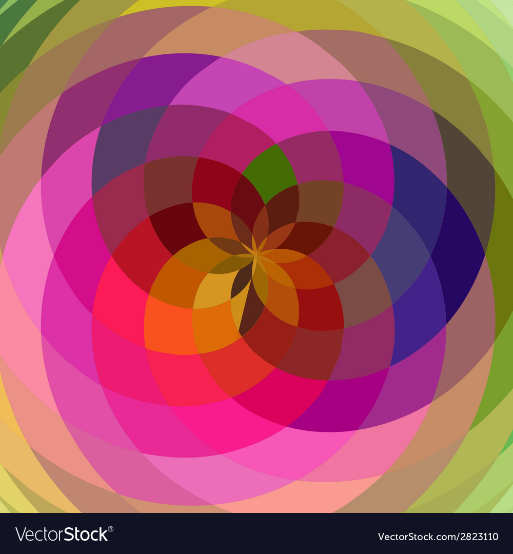 Floral spiral abstract vector | Price: 1 Credit (USD $1)