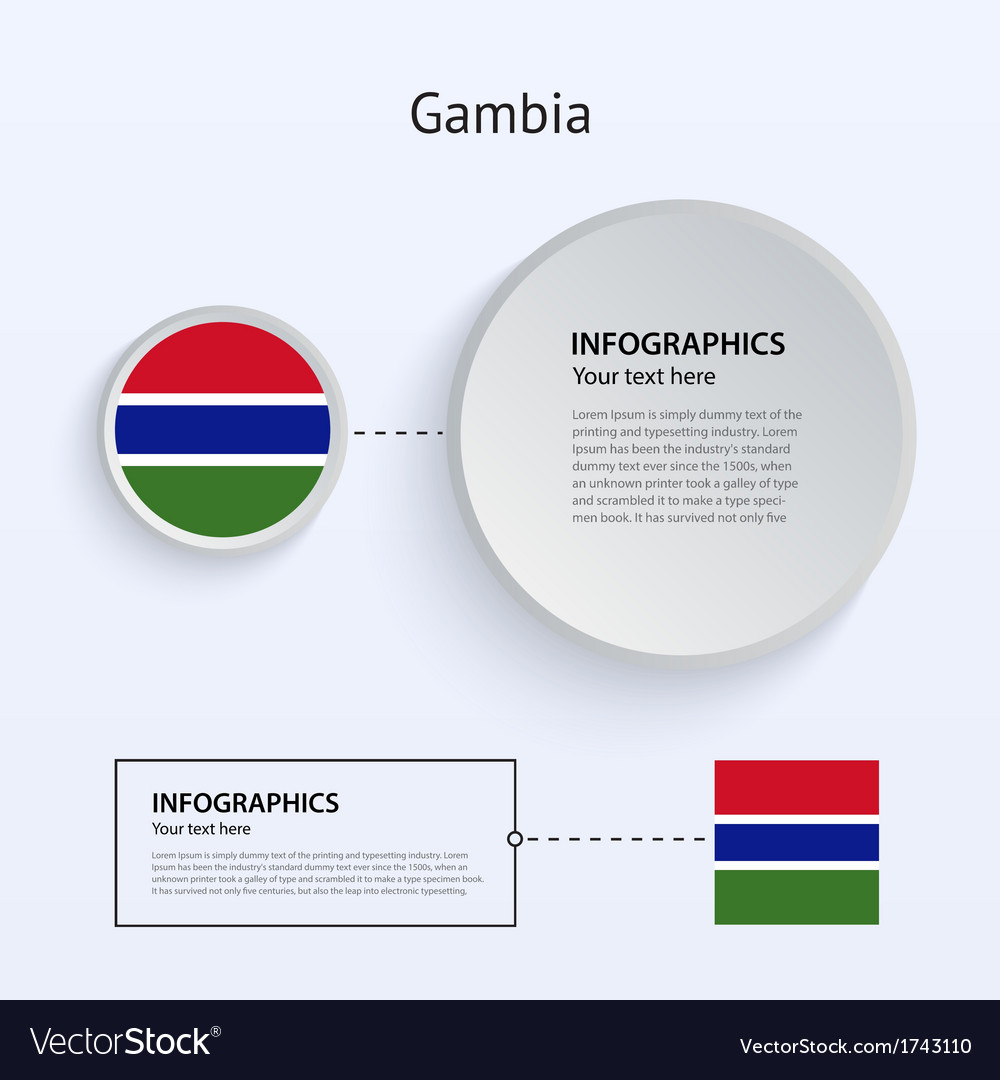 Gambia country set of banners vector | Price: 1 Credit (USD $1)