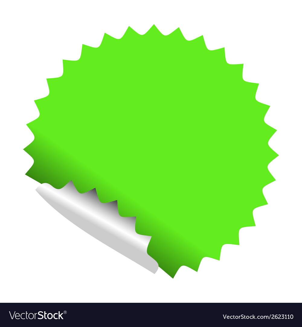 Green sticker vector | Price: 1 Credit (USD $1)