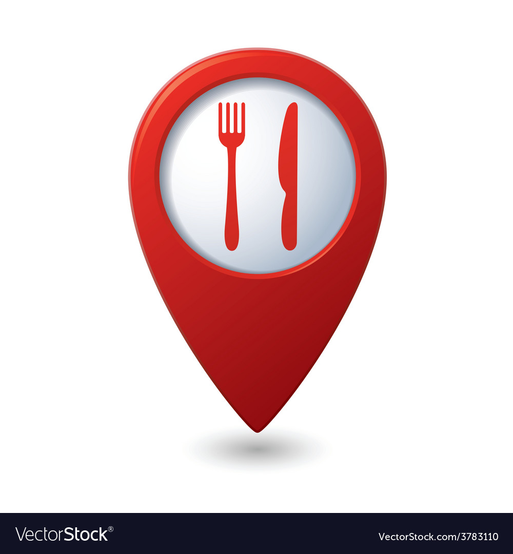 Knife and fork red pointer vector | Price: 1 Credit (USD $1)