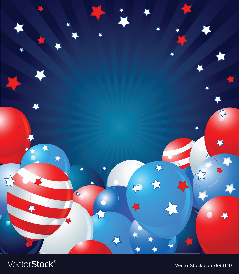 Patriotic balloons border vector | Price: 3 Credit (USD $3)