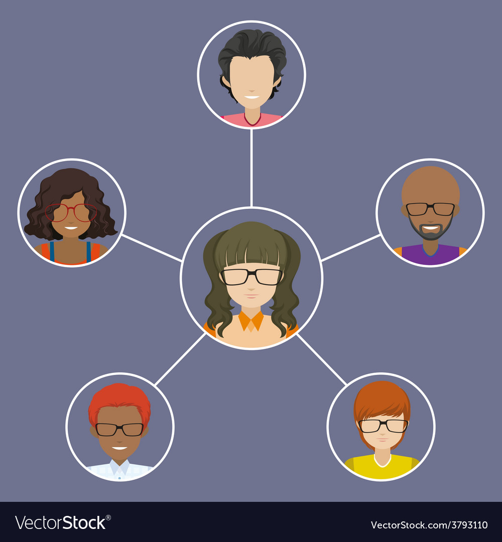 People connected with each other vector | Price: 1 Credit (USD $1)