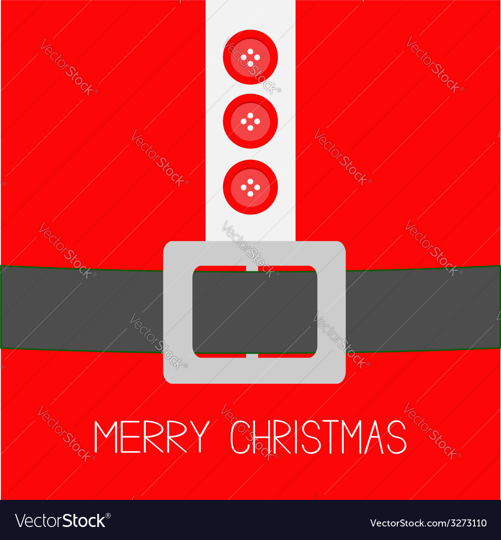 Santa claus coat with fur buttons and silver belt vector | Price: 1 Credit (USD $1)
