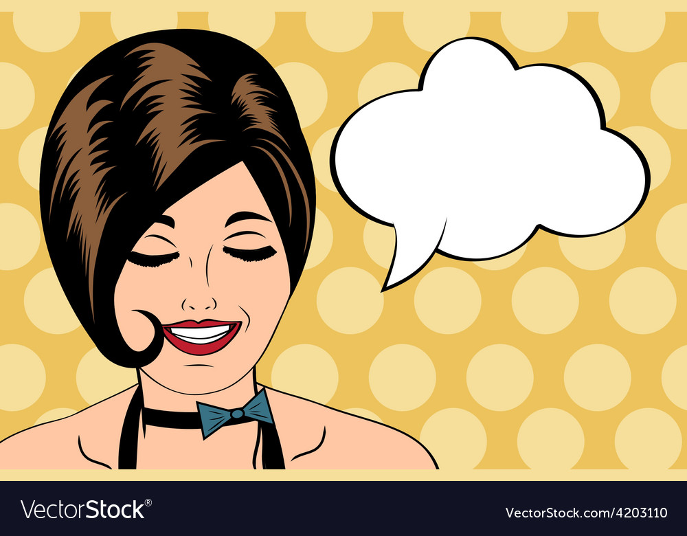 Sexy horny woman in comic style xxx vector | Price: 1 Credit (USD $1)