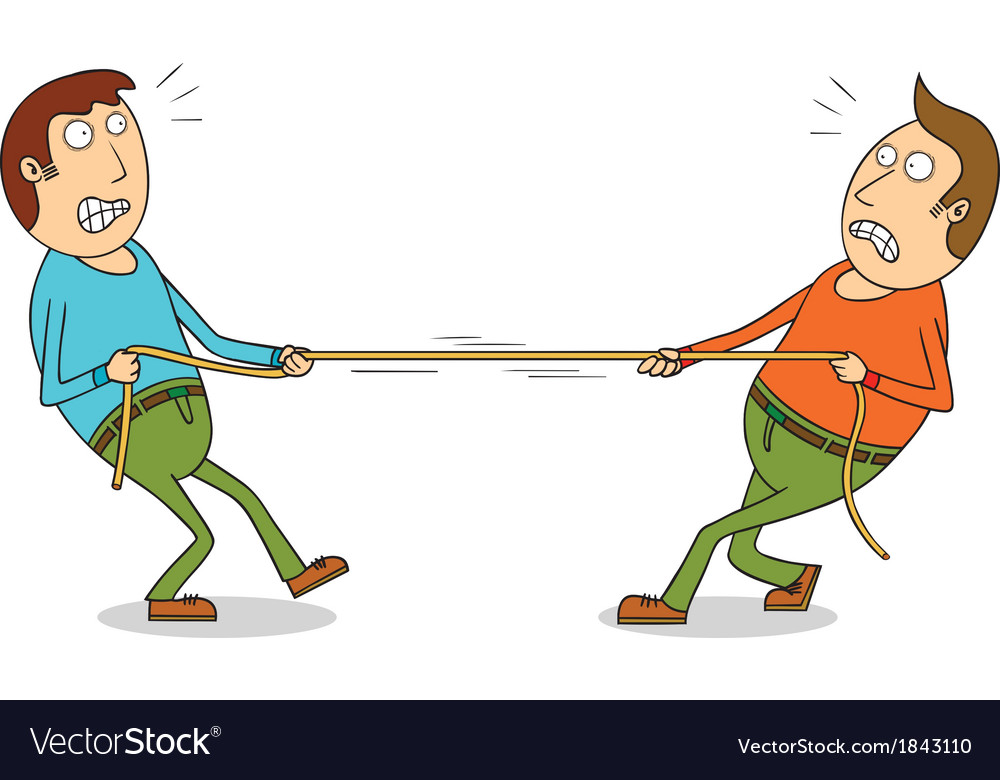 Tug of war vector | Price: 1 Credit (USD $1)