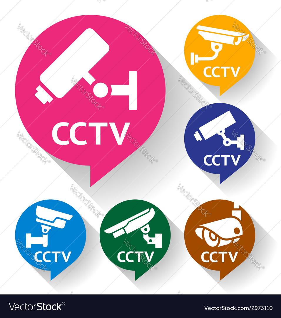 Video surveillance vector | Price: 1 Credit (USD $1)