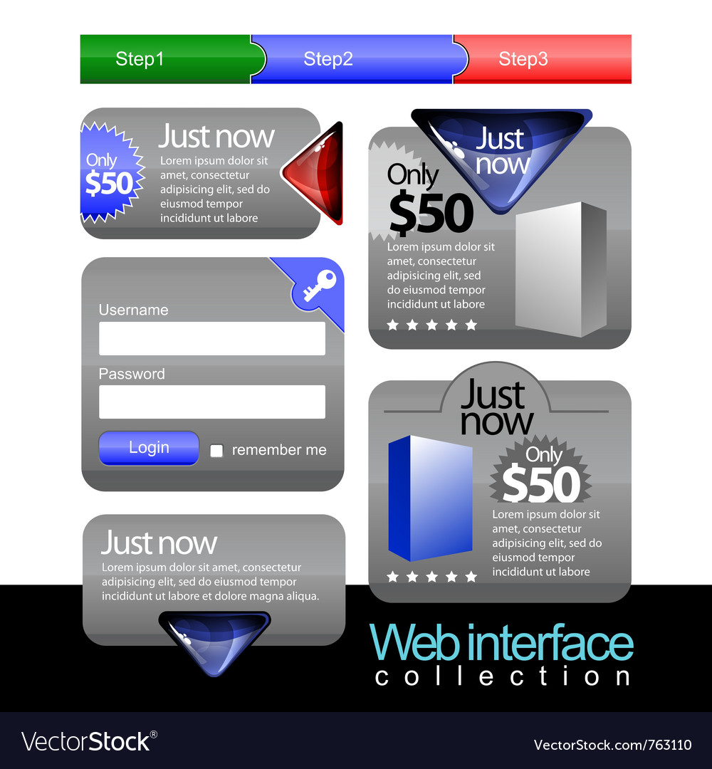 Web stuff collection vector | Price: 3 Credit (USD $3)