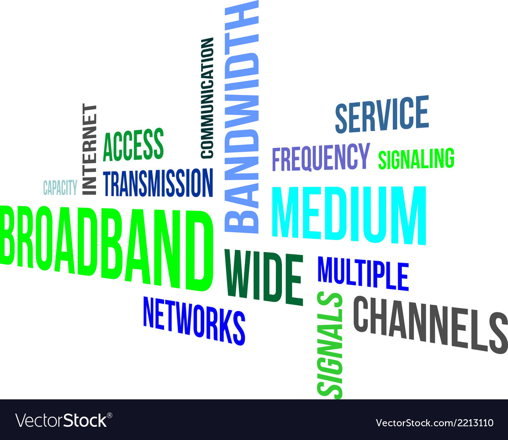 Word cloud broadband vector | Price: 1 Credit (USD $1)