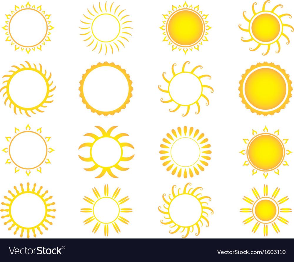 Yellow suns vector | Price: 1 Credit (USD $1)