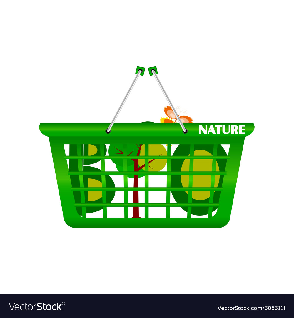 Basket nature and eco vector | Price: 1 Credit (USD $1)