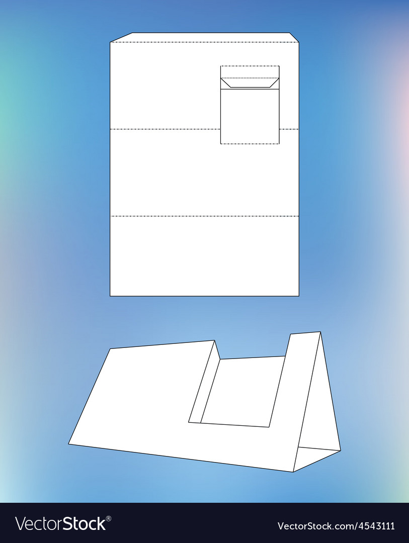 Business card display box box with blueprint vector | Price: 1 Credit (USD $1)