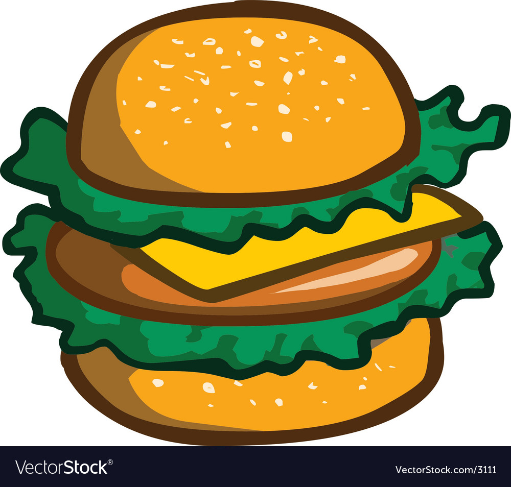 Delicious hamburger vector | Price: 1 Credit (USD $1)