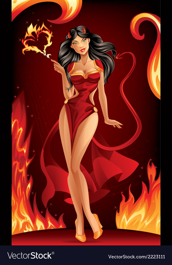 Devil woman vector | Price: 5 Credit (USD $5)