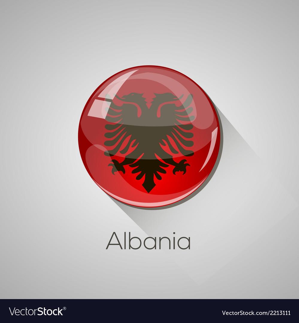 European flags set - albania vector | Price: 1 Credit (USD $1)
